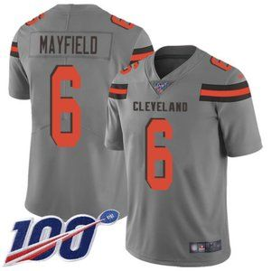 Browns Baker Mayfield 100th Season Jersey Inverted